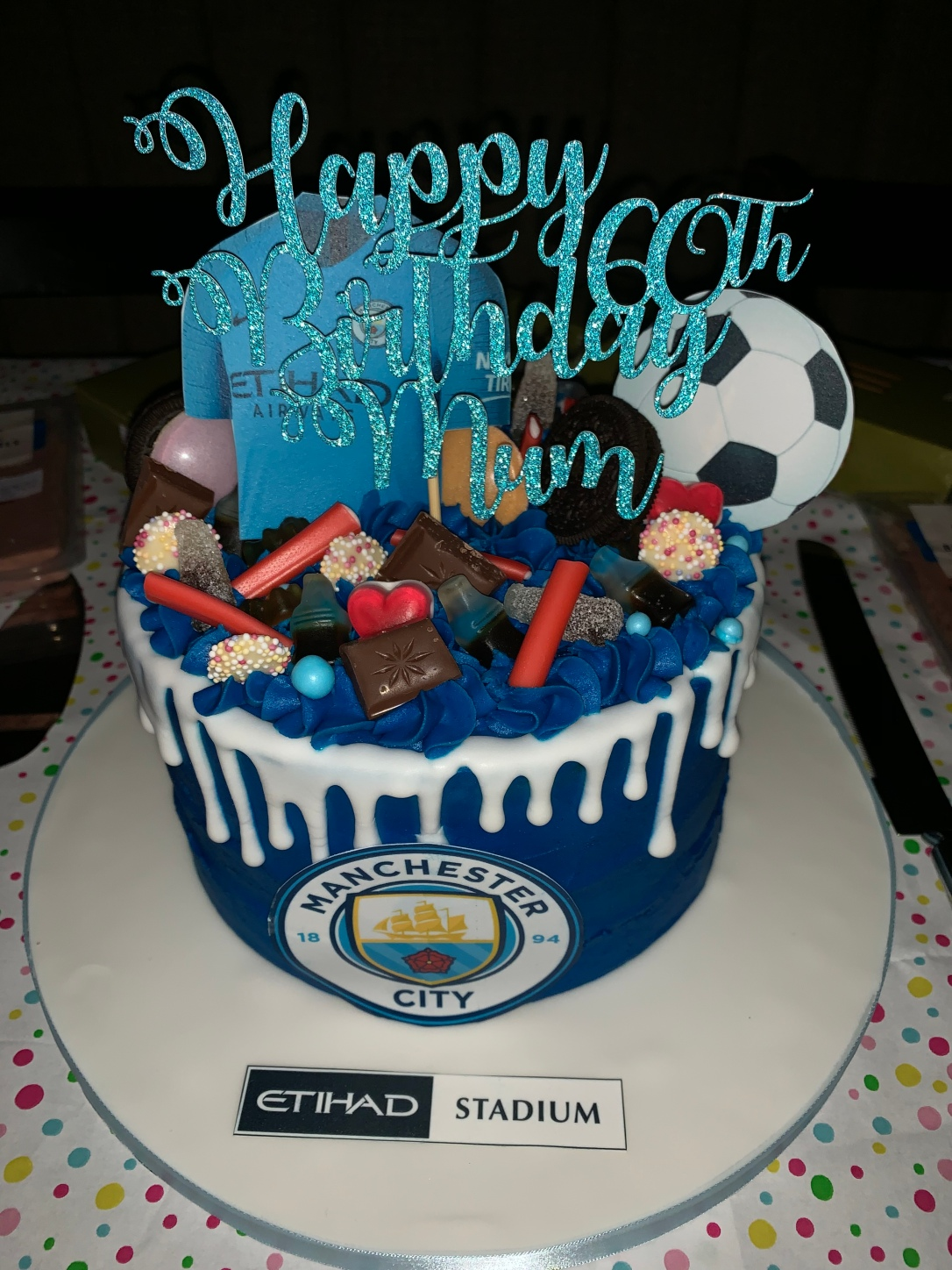 Manchester City football 60th birthday cake